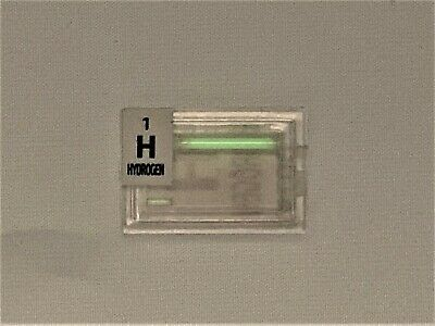 2 x Tritium Tube vial green 10 mm + 3mm Element Hydrogen Isotope Element Tile