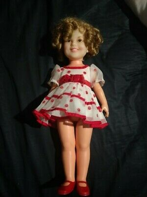 1972 Ideal shirley temple vintage doll with original dress and shoes 17 inches