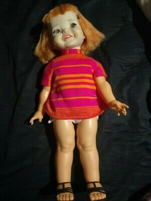 Vintage 1966 Giggles doll original dress and shoes Ideal