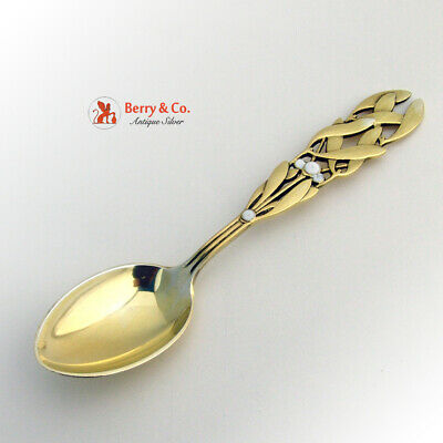 Mistletoe Christmas Spoon 1941 Michelsen Sterling Silver