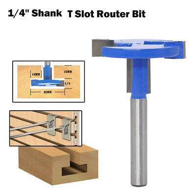 1/4 Inch Straight Shank T Slot Router Bit T-Track Woodwork Milling Cutter Tool