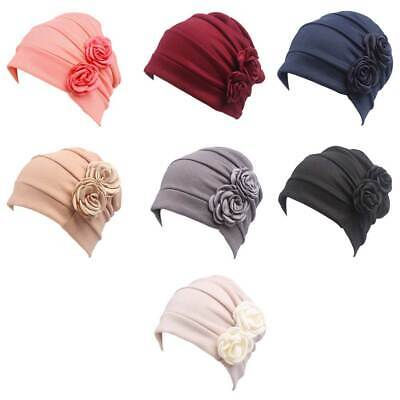 Womens Chemo Cap Night Sleep Turban Headwear Soft Beanie Hat for Cancer Patien