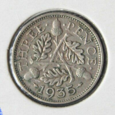 1935 UK Silver Threepence coin