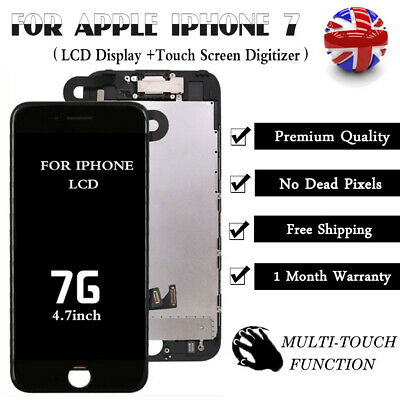 For iPhone 7 Screen LCD Display Touch Digitizer with Camera Replacement Black