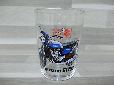 Vintage advertising water glass Suzuki GT750