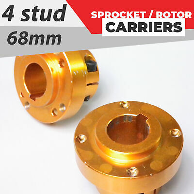 x2 Sprocket Rotor carriers 4 Stud / 68mm 30mm axle - Go kart Quad buggy #70BC1B