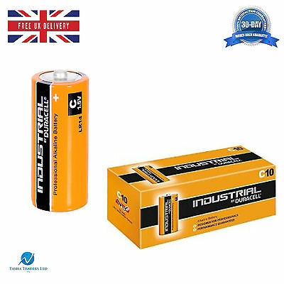 4 Duracell Industrial C MN1400 1.5V Alkaline Professional Performance Battery HQ