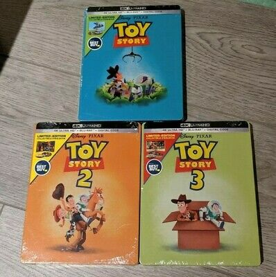 Toy Story Trilogy - Best Buy Steelbook Set (Blu-ray + 4K UHD) NEW!! 1 2 3
