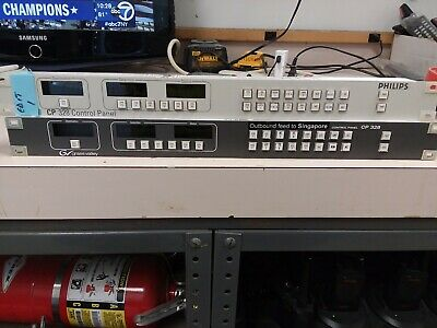 Lot Of 2 Philips/ Grass Valley CP-328 Control Panel with power supply