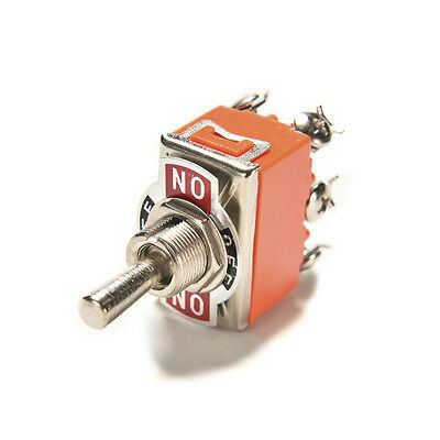 Auto Car Boat 6 Pin 15A Car Tip Toggle DPDT ON-OFF-ON Switch 12v 220 - 250V IU