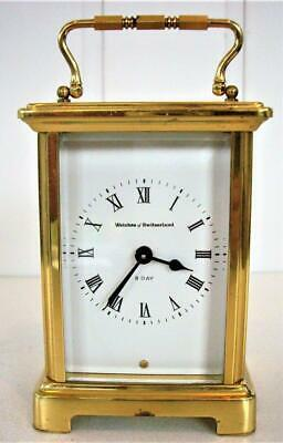 4-Glass 8-Day Swiss Carriage Clock - Working Well