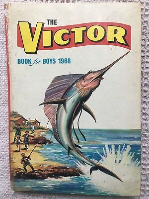 The Victor Book for Boys 1968 - Vintage Annual - unclipped