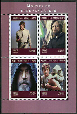 Madagascar 2019 MNH Luke Skywalker Mark Hamill Yoda 4v M/S Star Wars Stamps