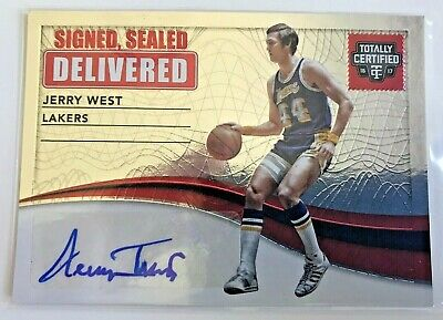 2016-17 Totally Certified Jerry West Signed Signed Sealed Delivered #9 Panini
