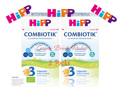 HiPP Combiotic Best Organic Baby Food BIO Follow-on 3 Bio From 10 Months 2x 600g