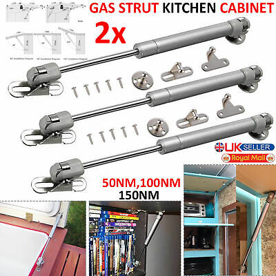 2x GAS STRUT KITCHEN CABINET CUPBOARD DOOR HINGES BLANKET TOY BOX LID GAS STAY