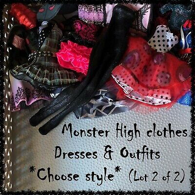 MONSTER HIGH Doll Dresses & Outfits (Lot 2/2) ~SELECT STYLE~ 1 Item incl.