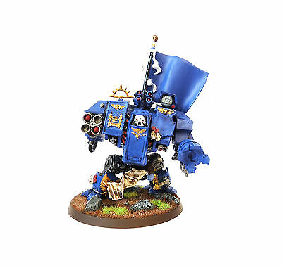 Warhammer 40K Army Ultramarine  Dreadnought  Painted And Based