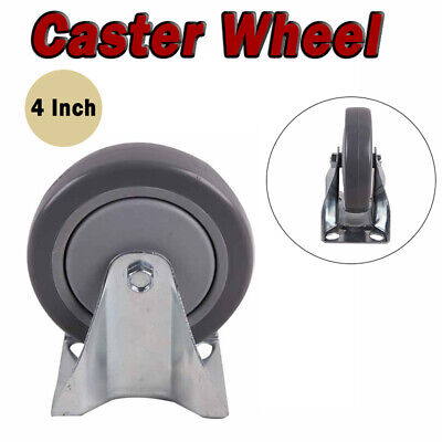 100mm Heavy Duty Rubber Castor Wheel Trolley Furniture Bed Industrial Caster