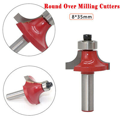 Round Over/Ovolo Router Bit 8mm Shank Wood TCT Groove Cutter Milling Cutters Red