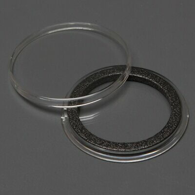 25 Genuine Air-Tite 38mm Black Ring Coin Capsules to Protect 1oz Silver Dollars