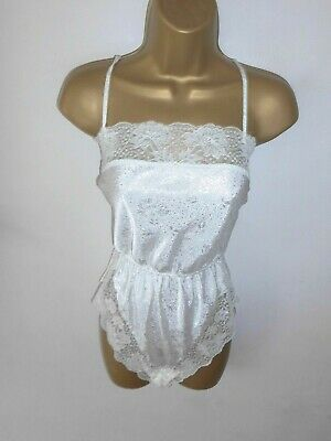 Vtg St Michael Cream Shimmery Teddy/ Body Size 14