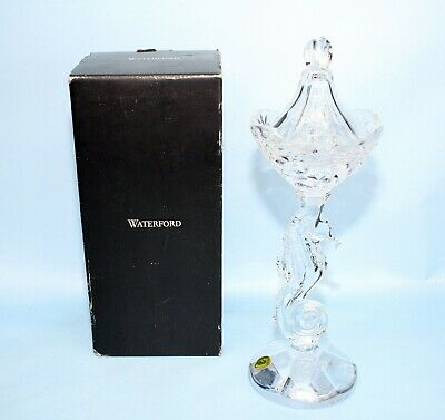 """Waterford Seahorse Pillar Candlestick, Candle Holder, Crystal,11 1/4"""" New In Box"""
