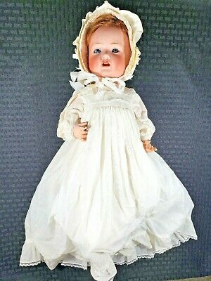 """Antique c1910 BAHR & PROSCHILD 16"""" Bisque / Compo Character Doll #585 Mohair Wig"""