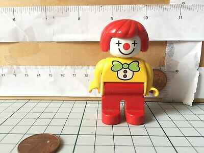 5953 Clown, female red hair, yellow top -Lego Duplo Spare Used Figure