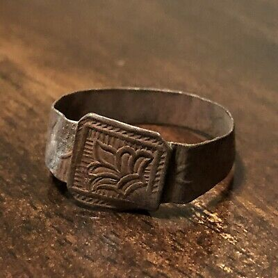 Late Or Post Medieval Ring European Metal Detector Find Artifact Antique Old 1