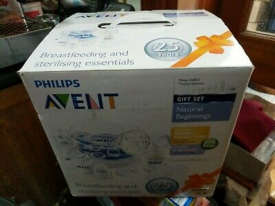 Philips Avent Natural Beginnings Gift Set Breast Feeding Sterilising RRP $159