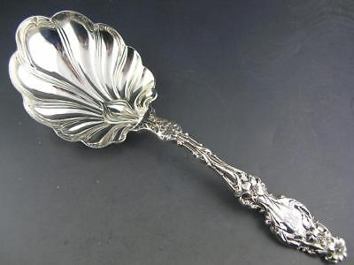"""Sterling WHITING 7 1/2"""" Berry / Preserve Serving Spoon LILY 1902"""