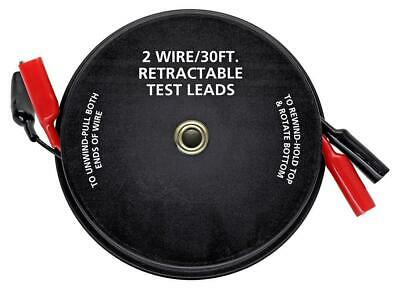 Cal Hawk Tools 2 Wire 30' Retractable Test Leads (18 Gauge)