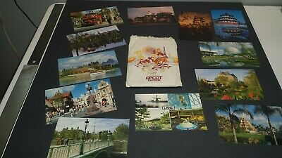 Lot of 12 Original Vintage Postcards - Florida - Epcot Center Unused/ NOS