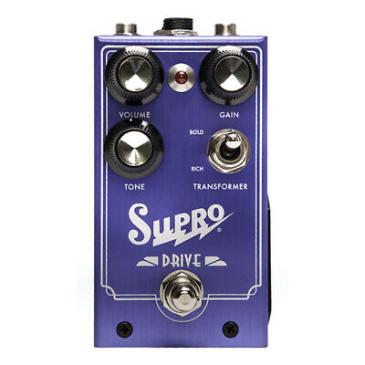 Supro Drive Overdrive True Bypass Switching Guitar Effects Stompbox FX Pedal