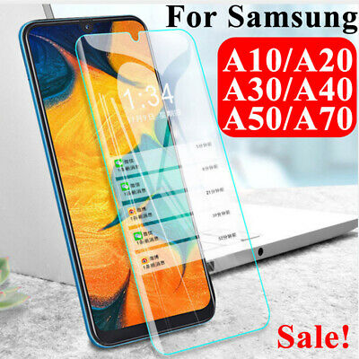 1/2Pc For Samsung Galaxy A20 E A10 A40 A50 A70 Tempered Glass Screen Protector d