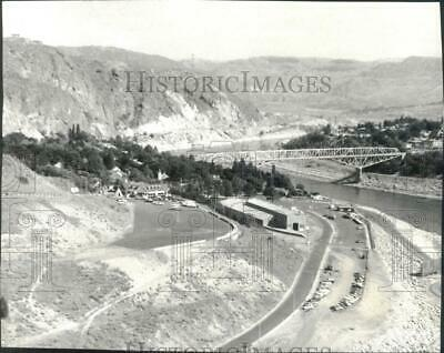 1972 Press Photo Aerial View of Grand Coulee Dam in Grand Coulee, Washington