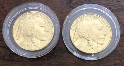 2018 And 2019 1 Oz. Gold American Buffalo Set
