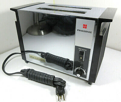 Vintage Panasonic Fully Automatic 2-Slice Toaster NT-1101A Chrome Black