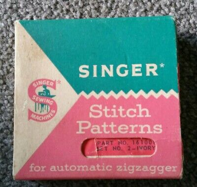 Singer Stitch Patterns For Automatic Zigzagger P/No. 161008