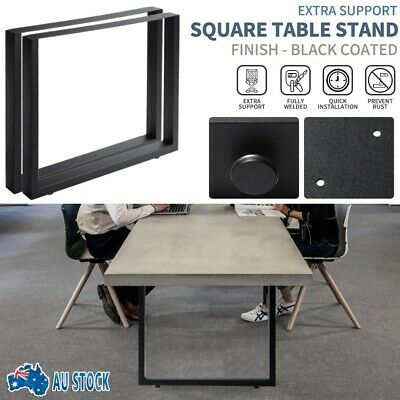 steel table Legs square shape,bench, coffee, dinning tables 90cm wide 72cm tall
