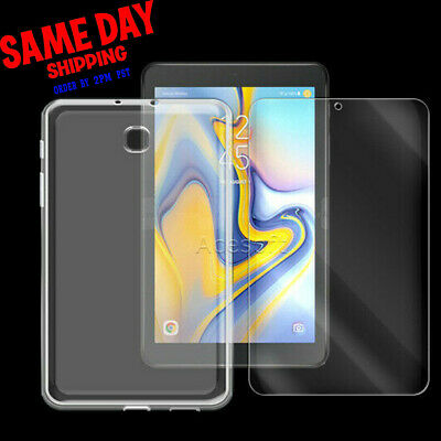 """Tempered Glass Screen Protector or Gel Shell Case for Samsung Galaxy Tab A 8.0"""""""