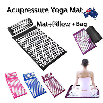Shakti Massage Acupressure Mat Yoga Sit Lying Mats Pain Stress Soreness Relax