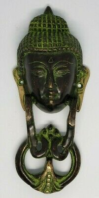 Traditional Gautama Buddha Head Metal Unique Brass Door Knocker Wall Hanging