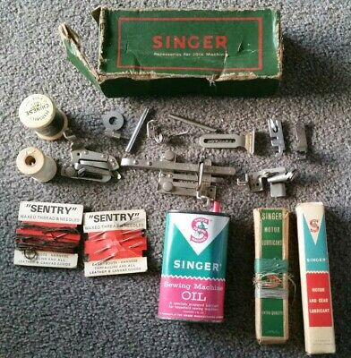 Vintage Singer Sewing Machine Accessories For 201K Machine In Box