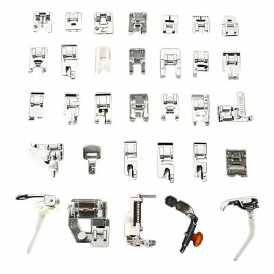 32PCS/Set Presser Sewing Machines Feet Snap On Sewing Domestic Tools