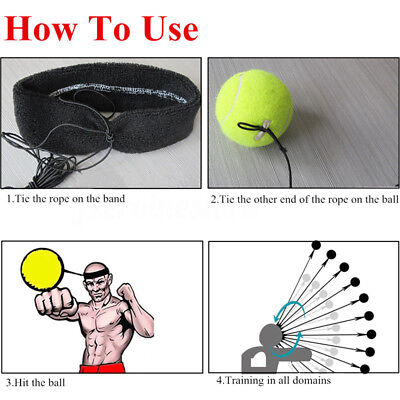 Fight Ball With Head Band Reflex Speed Training Boxing Punch Exercise Swank
