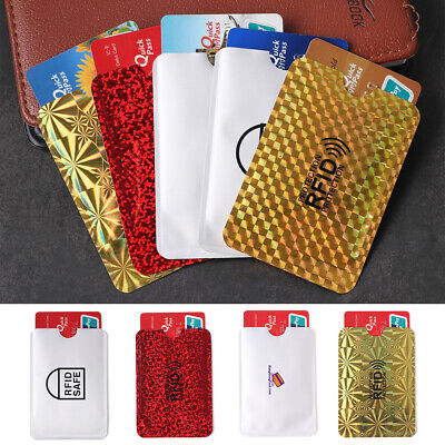 Foil  Protection Shielding Bags Anti-theft Case Card Holder Bank Cards Set