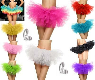 Au Stock Adults Teens Girls Ballet Dancewear 5 Layer Tulle Tutu Skirt Da017