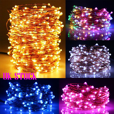 20M 200 LEDs Battery Micro Rice Copper Wire Waterproof Fairy String Lights Xmas